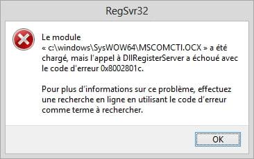 regsvr32 mscomctl ocx