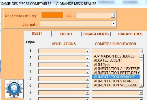 selection compte alimentation semaine code 3
