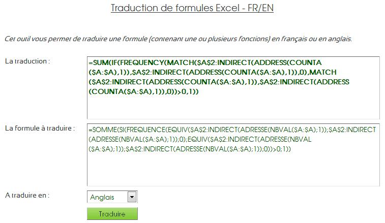 traductions formules