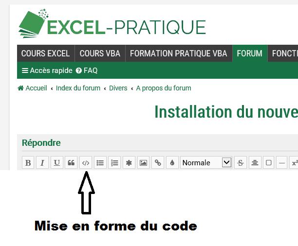 balises code