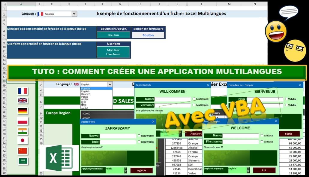 screen tuto crea app multilangues avec vba