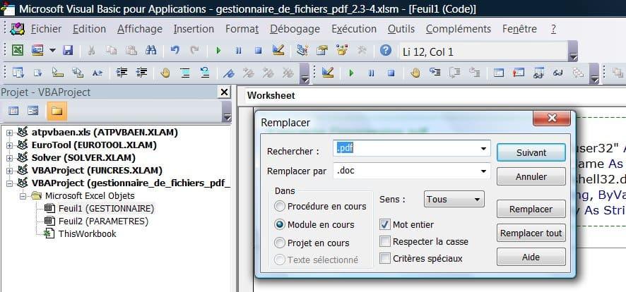 remplacer les extensions gestionnaire de fichier