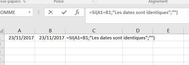 date identique