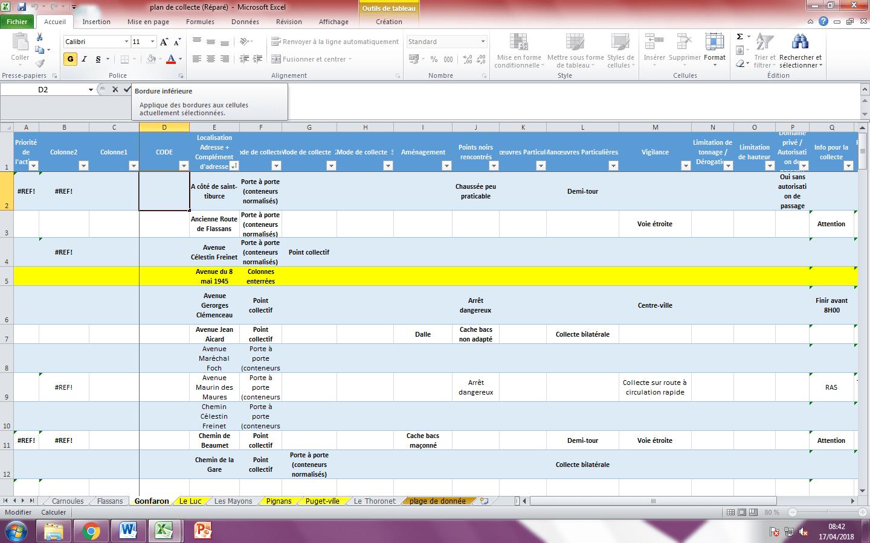 plan de collecte