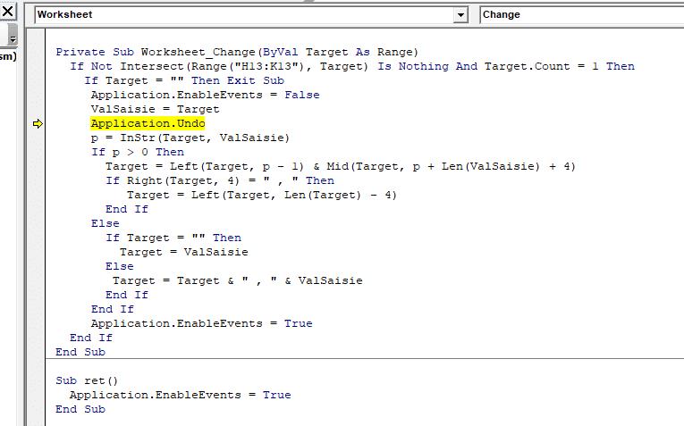 erreur code