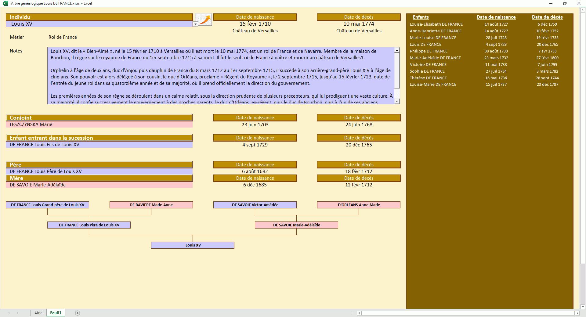 louis xv genealogie reconciliee avec l histoire