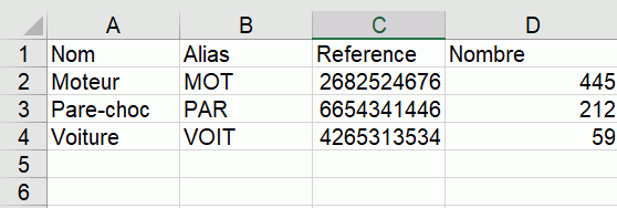 excel extraction